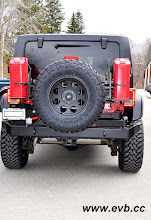 Photo: Garvin Rear Bumper with Jerry Can and Spare Tire Mounts, Hi-Lift Jack, Toyo Open Country M/Ts 35x12.50x17, 17inch ProComp rims