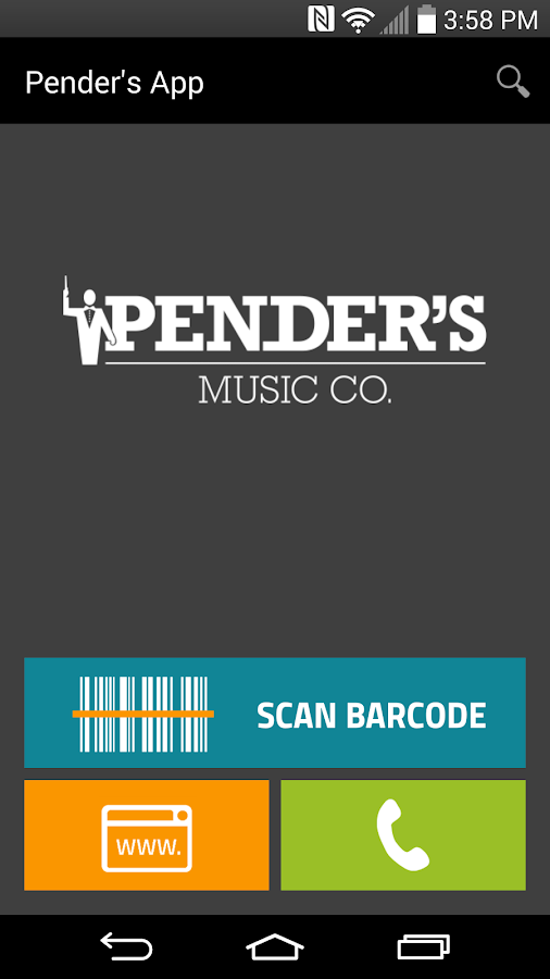 Pender's Barcode Scanner- screenshot
