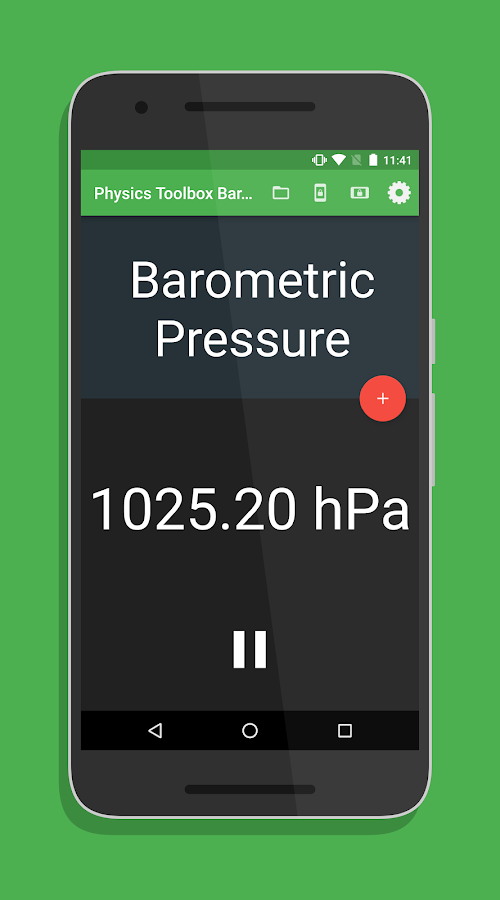 Physics Toolbox Barometer- screenshot