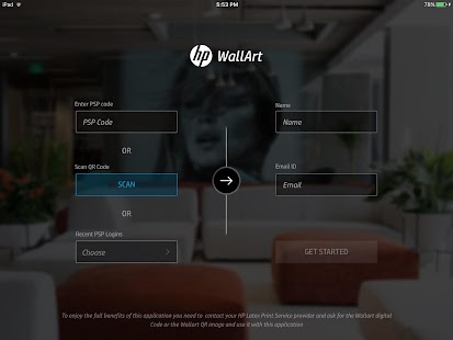 HP WallArt Solution- screenshot thumbnail
