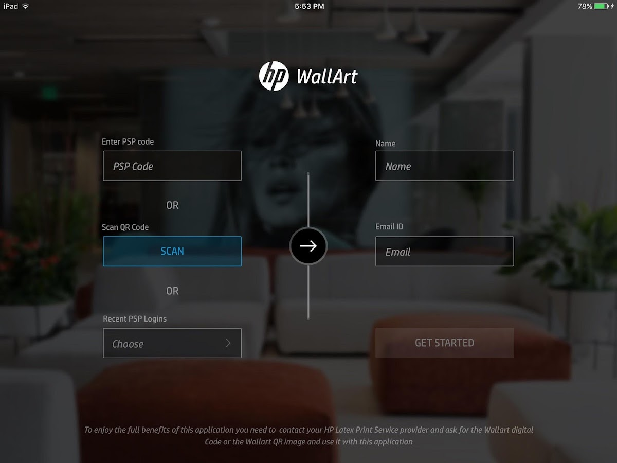 HP WallArt Solution- screenshot
