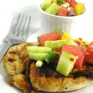 Zesty Lime Marinated Chicken with Homemade Watermelon Salsa