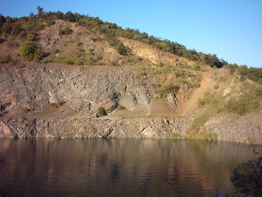Photo: A quarry lake near Egerbakta, Hungary. Restricted and closed area, very dangerous (2009)