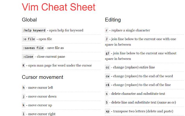FE cheatsheets
