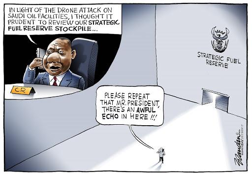 CARTOON: SA's fuel stockpile?