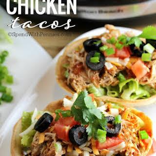 Crockpot Chicken Tacos.