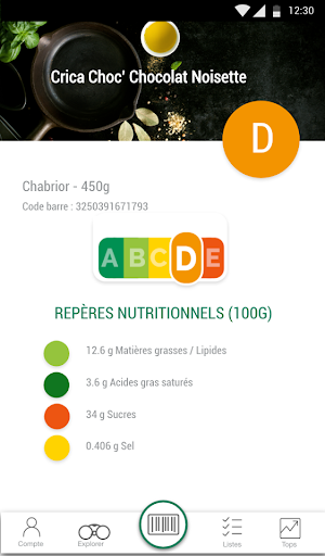 Scan Eat - Scanner alimentaire pour mieux manger  screenshots 10