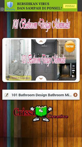 101 Bathroom Design Minimalist