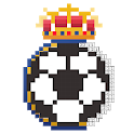 Pixel football logos : Sandbox color by numbers icon