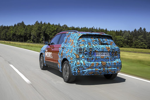 Beneath the camouflage are LED lights and sharp creases but it will not be as sporty -looking as the T-Roc. Picture: VOLKSWAGEN