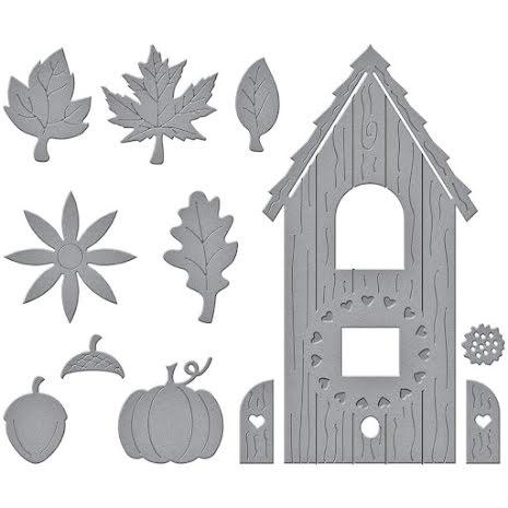 Spellbinders Dies By Vicky Papaioannou - Build A Fall Birdhouse