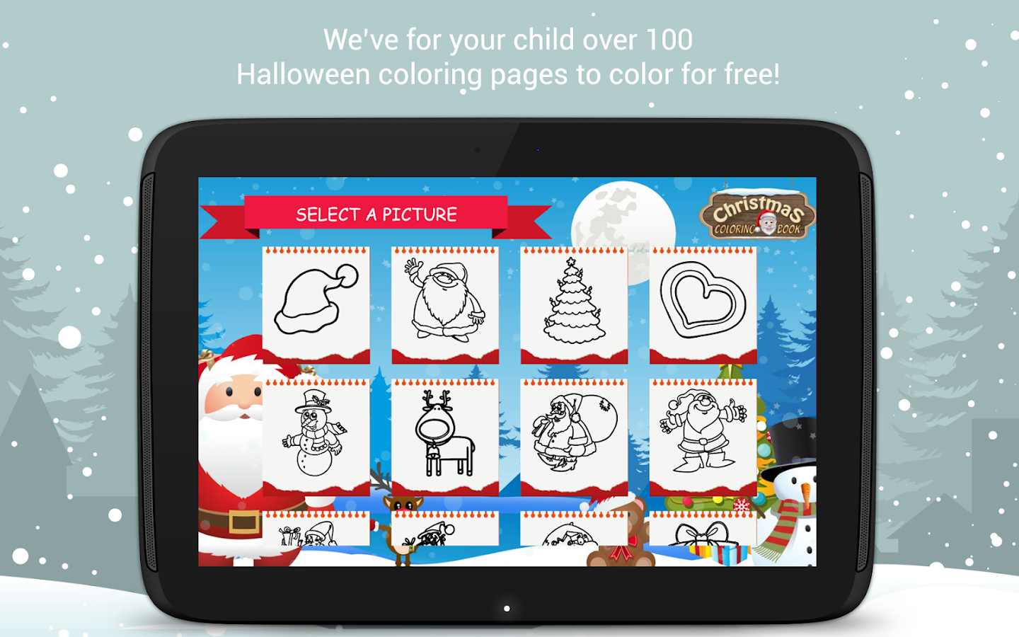 christmas coloring book santa game for kids android apps on
