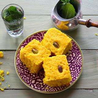 Sfuff - Vegan Middle-Eastern Turmeric Cake