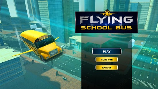 Flying School Bus Driving Simulator - náhled