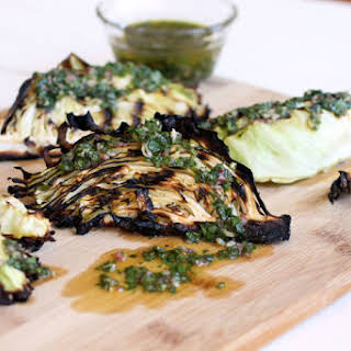 Grilled Cabbage with Chimichurri.