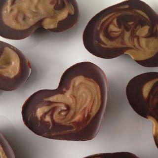 Chocolate Cashew Swirl Heart Candy