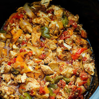 Crock Pot Chicken Fajitas.