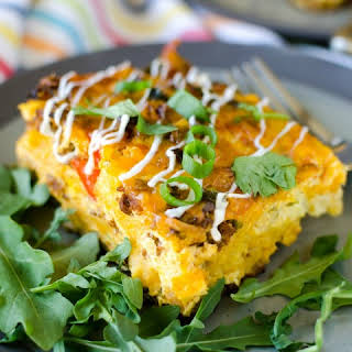 Overnight Mexican Breakfast Casserole.