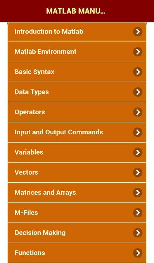 matlab manual Matlab tutorial for beginners jyotirmay gadewadikar matlab has functions for nearly every type of common matrix calculation some basic matrix operations.