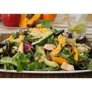 Papaya, Avocado and Chicken Salad.