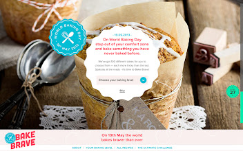 Photo: Site of the Day 6 May 2013 http://www.awwwards.com/web-design-awards/bake-brave-world-baking-day