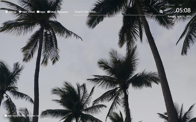 Palm Trees Wallpaper HD New Tab Theme©