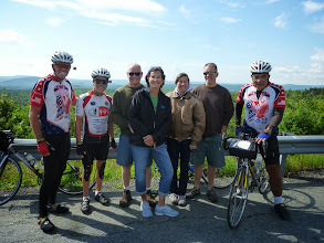 Photo: Day 53 August 10 Bennington To Brattleboro VT: Top of Hogback MT. Motor cyclists heading home after visiting Maine.