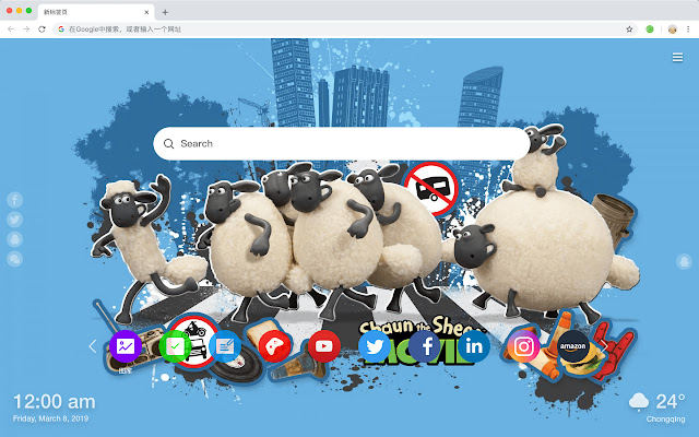 Shaun the Sheep New Tab Page Top Wallpapers