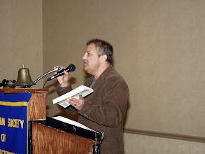 "Photo: Niraj Chandra described his new book ""Making Money from Renewable Energy"""