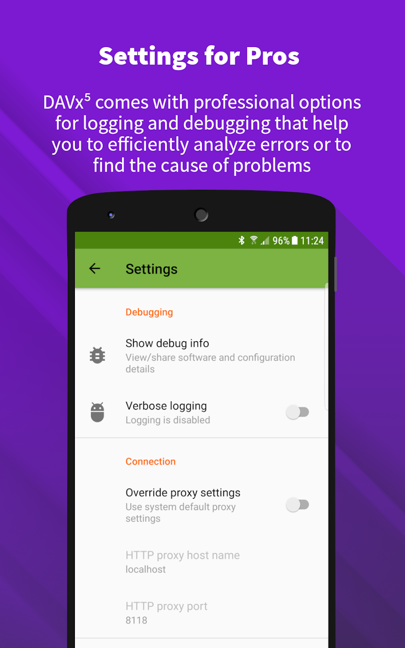 DAVx⁵ – CalDAV/CardDAV Client Screenshot 4