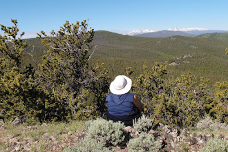 Photo: Marty admires the view.  This is to the SW with San Luis Pk in the distance.