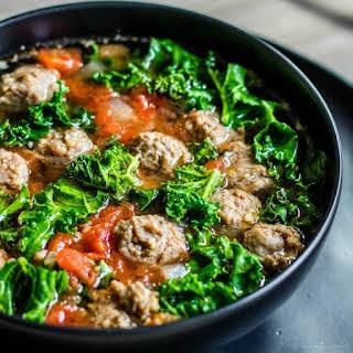 Low Carb Instant Pot Sausage and Kale Soup.