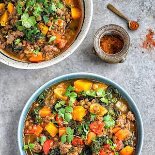 Lamb, Lentil And Squash Stew.