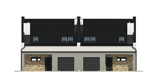 Mazurek III z garażem 1-st. bliźniak A-BL1 - Elewacja przednia