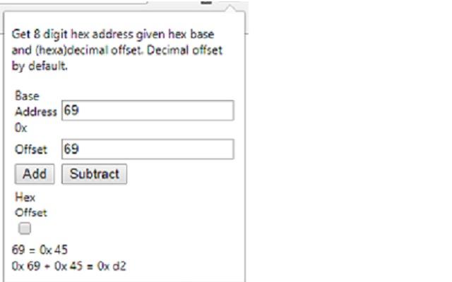 Hexadecimal Address Calculator
