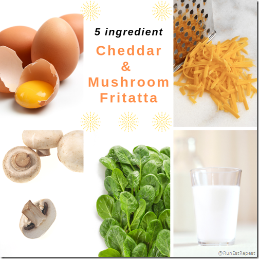 5 ingredient Cheddar and Mushroom Fritatta Recipe Real CA milk cheese