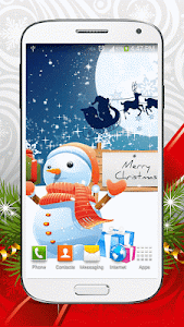 Cute Snowman Live Wallpaper HD screenshot 5