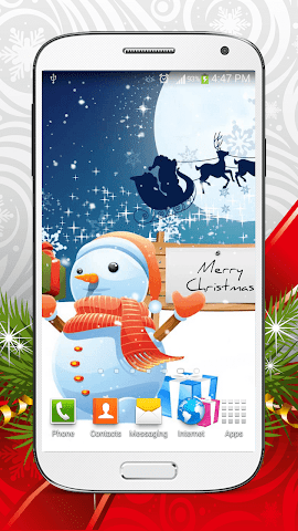 android Cute Snowman Live Wallpaper HD Screenshot 5