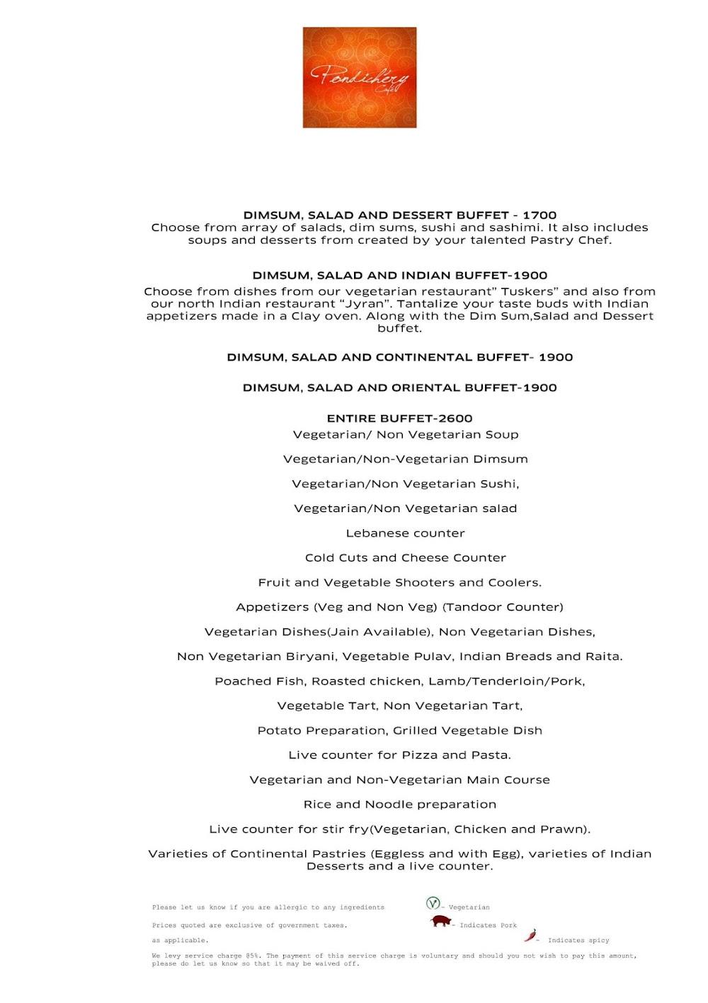 Pondichery Cafe - Sofitel menu 6