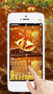 Aureate Christmas Keyboard Theme - náhled