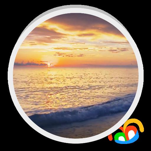 Sunset Beach Live Wallpaper 個人化 LOGO-玩APPs