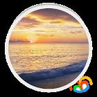 Sunset Beach Live Wallpaper icon