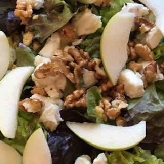 Pear Goat Cheese Honey Mustard Salad.