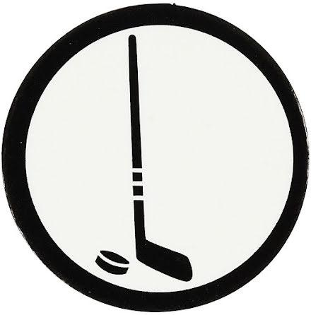 Etikett Hockeyklubba och puck