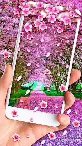 Romantic Sakura Live Wallpaper screenshot
