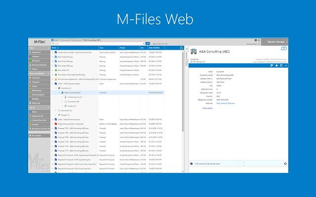 M-Files for Chrome