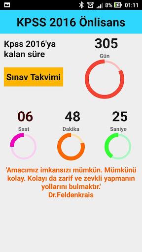 KPSS 2016 Önlisans Geri Sayım
