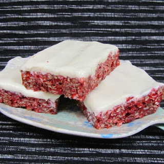 Red Velvet Rice Krispie Treats.