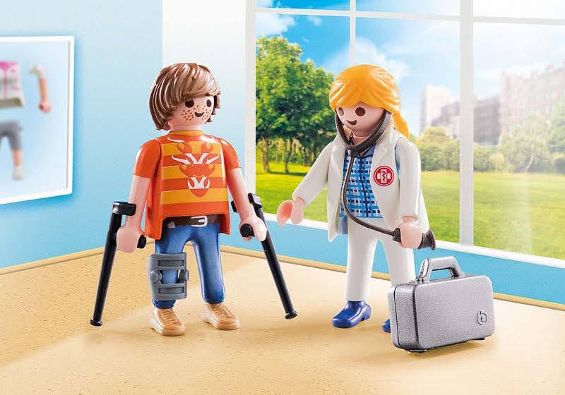 Contenido real de Playmobil® 70079 Duo Pack Doctora y Paciente