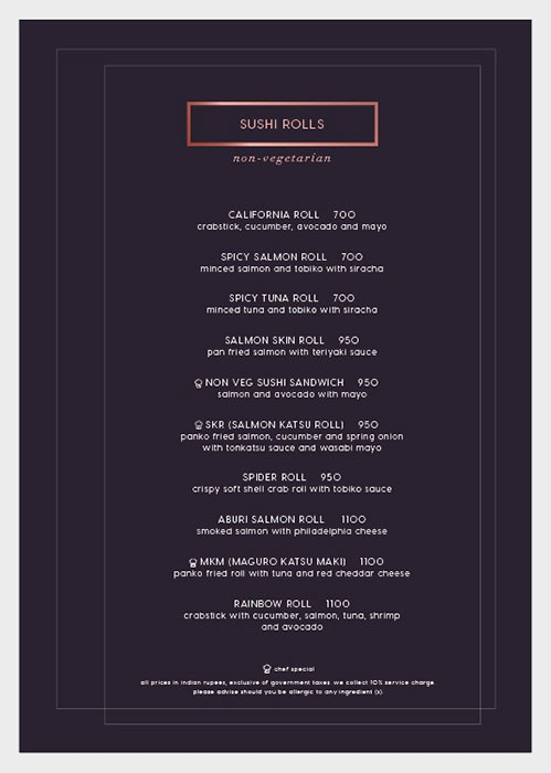 Kampai menu 9